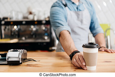 Modern cafe business - Nourishing coffee. Cropped image of...