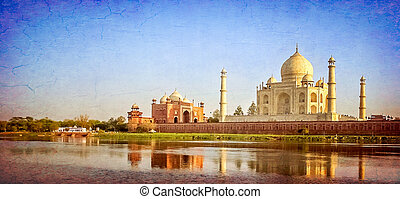 Taj Mahal - mausoleum at Agra in northern India, a UNESCO...
