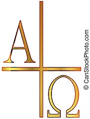 Alpha Omega Golden Image - The A;phs Omega letters from the...