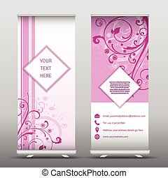 floral roll up banners 2906 - Roll up advertising banners...