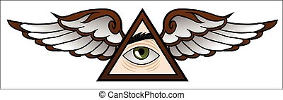 Illuminati Cartoon - Funny symbol of the Illuminati in...