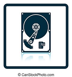 HDD icon. Shadow reflection design. Vector illustration.