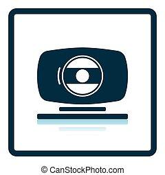 Webcam icon. Shadow reflection design. Vector illustration.