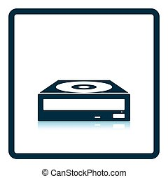 CD-ROM icon. Shadow reflection design. Vector illustration.