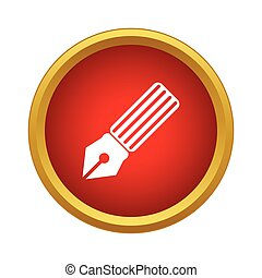 Pen ink icon, simple style - Pen ink icon in simple style in...