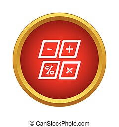 Marks calculation icon, simple style - Marks calculation...