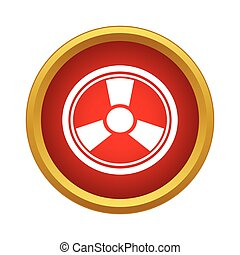Radiation icon, simple style - Radiation icon in simple...