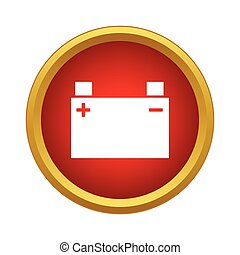Machine battery icon, simple style - Machine battery icon in...