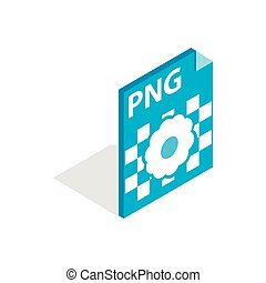 Vector Illustration of PNG image file extension icon. - PNG image ...