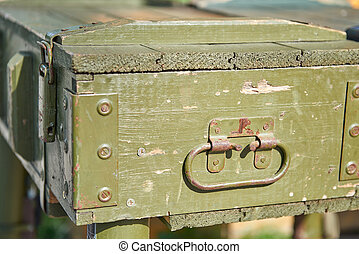 Equipment military old case box