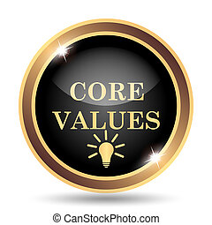 Core values icon. Internet button on white background.
