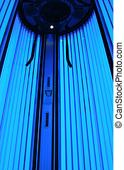 Blue light solarium