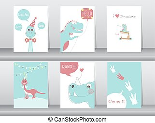 Set of cute cards