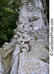 Johann Strauss - marble tombstone of Johann Strauss in...