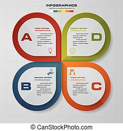 Abstract 4 steps modern vector.