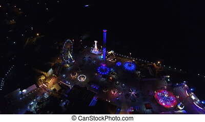 Flying over amusement park - Flying over the amusement park...