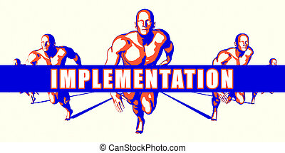 Implementation as a Competition Concept Illustration Art