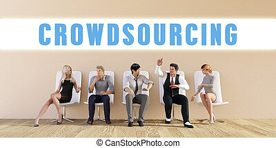 Business Crowdsourcing Being Discussed in a Group Meeting
