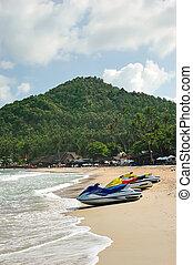 Watercraft - Personal watercraft on Chaweng Beach, Koh...
