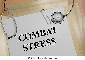 Combat Stress medical concept - 3D illustration of COMBAT...