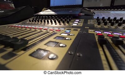 Sound music mixer control panel - Professional audio music...