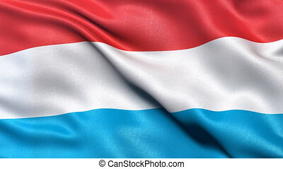 Luxembourg flag seamless loop