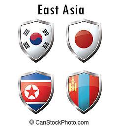 Set flag iconJapan, South Korea, North Korea, Mongolia...