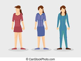 Female Fashion Outfit Cartoon Vector Illustration - Vector...