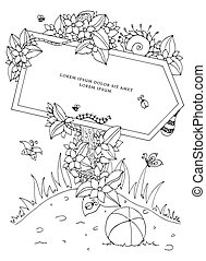 Vector illustration Zen Tangle pointer with the inscription....