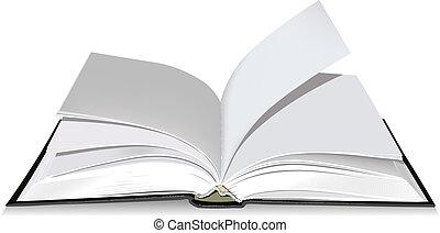 Open book. Illustration in vector format