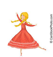 Isolated Little fairy ballerina girl