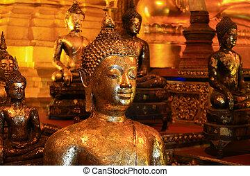 Close up Buddha statue