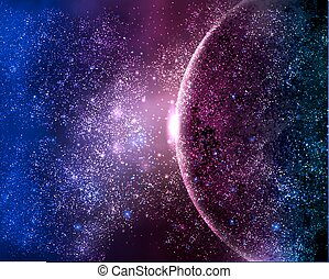 planet in the night sky space star