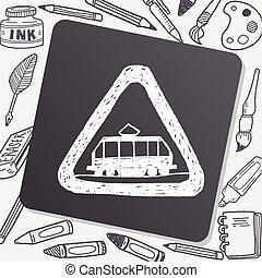 tram doodle
