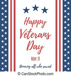 Happy Veterans Day background. Poster or brochure template....