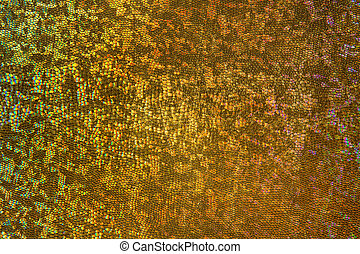 Gold Scale Background, Scaly Fabric Pattern, Abstract Texture