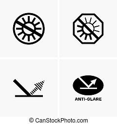 Anti-glare symbols