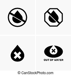 Out of water symbols