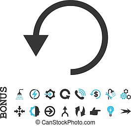 Rotate Ccw Flat Vector Icon With Bonus - Rotate Ccw vector...