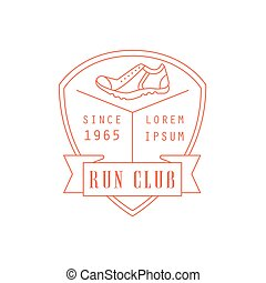 Run Club Red Label Design - Run Club Red Label Vector Design...