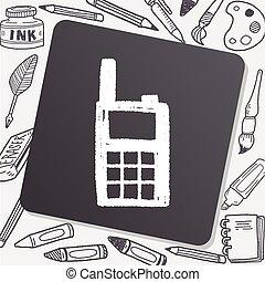 handheld transceiver doodle