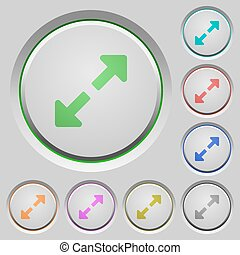 Resize full push buttons - Set of color Resize full sunk...