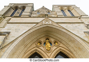 Chichester cathedral - entrance of the Chichester cathedral...