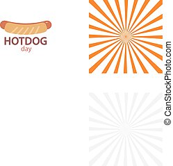 Vector Hotdog icon - Hotdog icon in flat style vector...