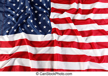 Close up of American flag - the Close up of American flag