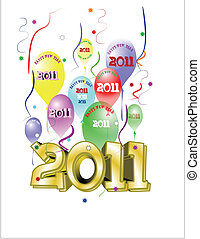 news year eve theme - new years eve greeting on white with...