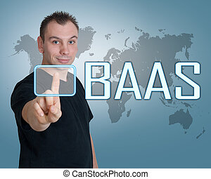 Backup as a Service - BaaS - Backup as a Service - young man...