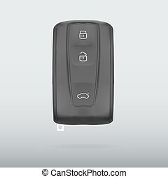 Car key isolated on white background vector illustration