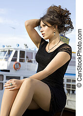 lady on mooring