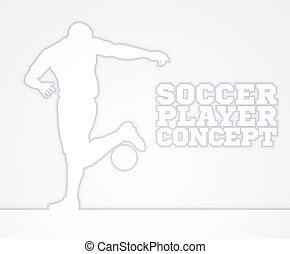 Soccer Football Player Concept Silhouette - A stylised...